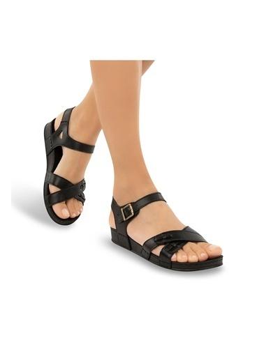 Muya Milana Anatomik Kadın Sandalet Siyah